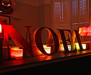 Christmas Rusty Letters Noel/Angel - children's room accessories