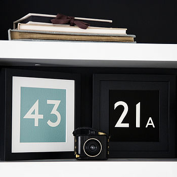 Personalised Bus Number Framed Print