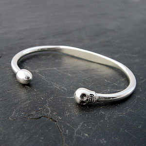 Silver 'Life Is A Journey' Bangle For Him - bracelets