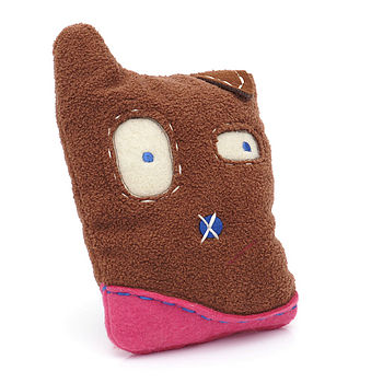 Dog Toy Brown Monster