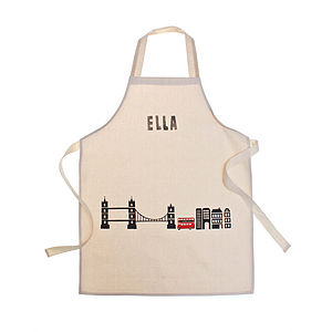 Personalised London Children's Apron - cooking & baking