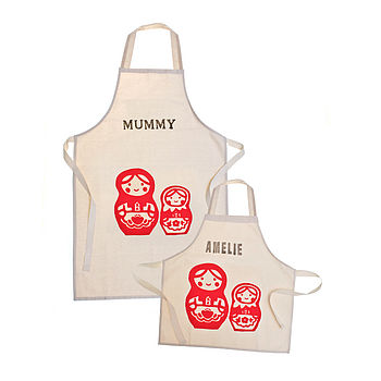 Printed Personalised Apron Set