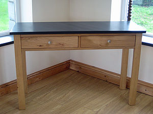 Slate And Oak Console Table - side tables