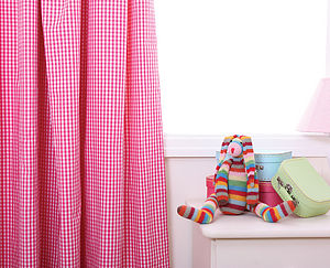 Gingham Curtains - Available In Three Colours - curtains & blinds
