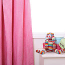 Gingham Curtains Available In Pink And Navy