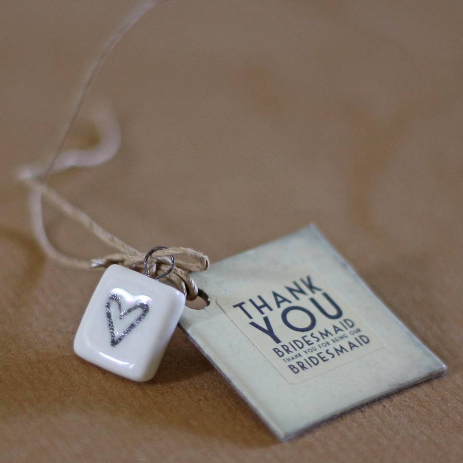 Personalised Wedding Gifts Not On The High Street : thank you bridesmaid gift tag by the wedding of my dreams ...