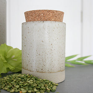 Stoneware Storage Jar - kitchen