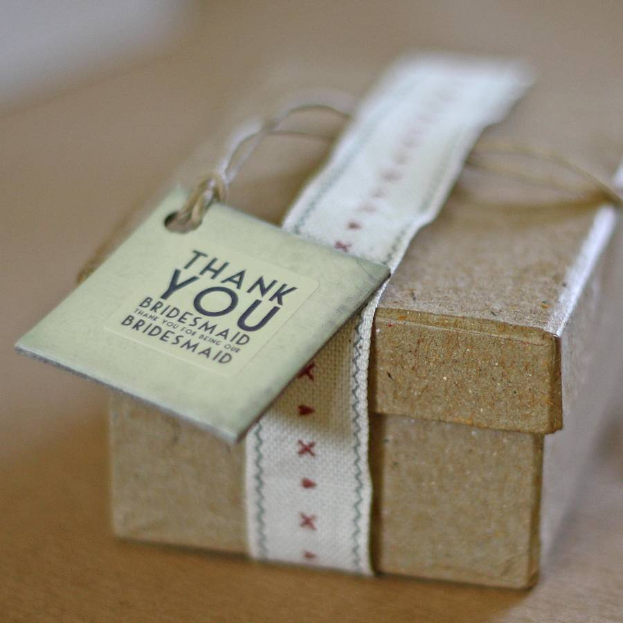 'thank You Bridesmaid' Gift Tag By The Wedding Of My