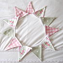 Floral Stripe Mini-Bunting