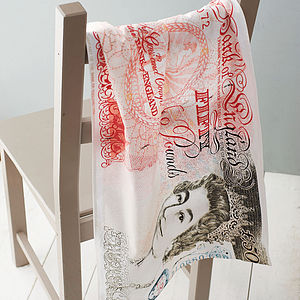 Bank Note Tea Towel - secret santa gifts