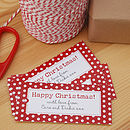15 Personalised Christmas Gift Tags: Polkadot