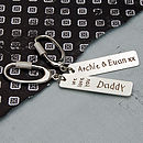 Handmade Personalised Silver Love Key Ring