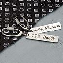 Handmade Personalised Silver Love Key Ring