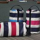 Striped Sailcloth Wash Bag