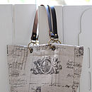 Cherub Linen Bag With Leather Handles