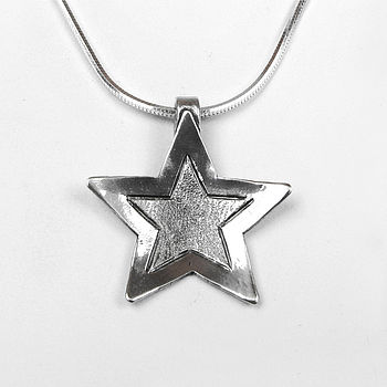 Sterling Silver Lucky Star Necklace On Silver Chain