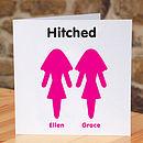 Personalised Wedding Civil Partnership Card