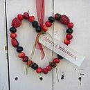 Personalised Christmas Winter Berries Wreath Hanger