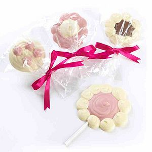 Box Of Five Chocolate Lollies