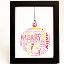 Personalised Framed Bauble Print
