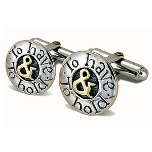 'To Have And To Hold' Cufflinks - men's accessories