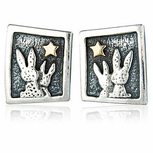 Star Gazing Bunnies Earrings