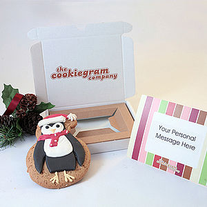 Christmas Penguin Cookie Gram - cards
