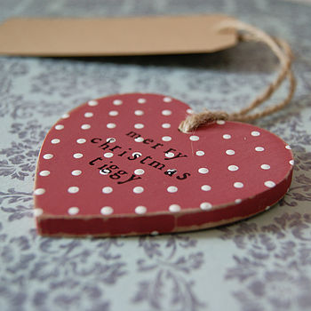 Personalised Christmas Wooden Heart