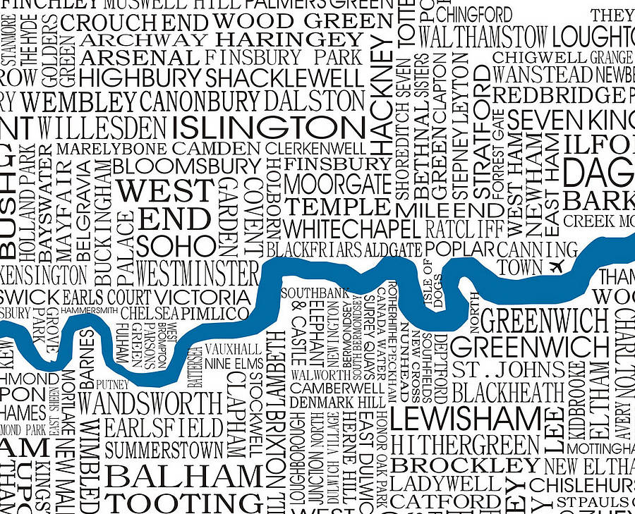 London Map Print By Adrian Mcmurchie Notonthehighstreet: Map Of London Print At Infoasik.co