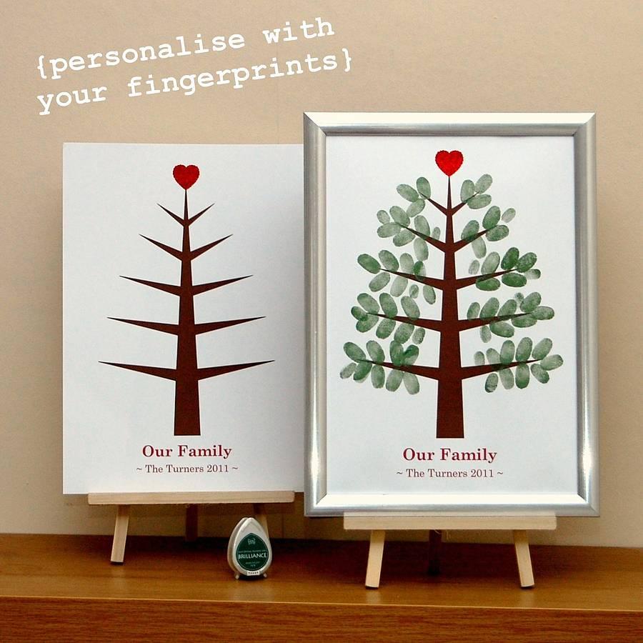 personalised christmas fingerprint tree by love those ...