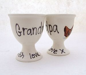 Personalised Egg Cup - easter homeware