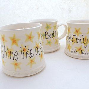 Handmade Personalised Star Mug