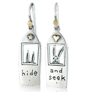 'Hide And Seek' Drop Earrings - earrings