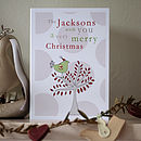 Six Personalised Family Christmas Cards