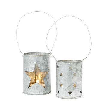 Star Zinc Tea Light Holder