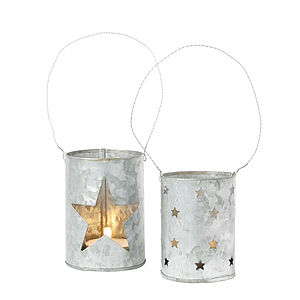 Star Zinc Tea Light Holder - outdoor decorations