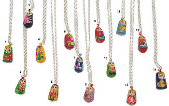 Necklaces: Russian dolls