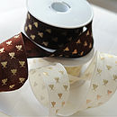 Wire Edged Bee Emblem Ribbon