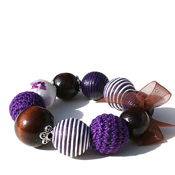 Deep Purple Chunky Bracelet