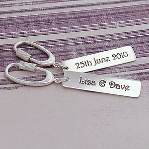 Personalised Silver Occasions Keyring - keyrings