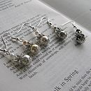 Sterling Silver Pearl And Crystal Earrings