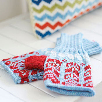 Knitted Fairisle Hand Warmers
