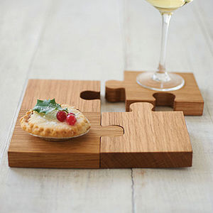 Chunky Jigsaw Coasters And Trivet - kitchen