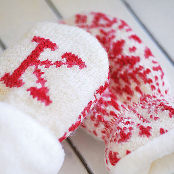 Personalised Baby Mittens