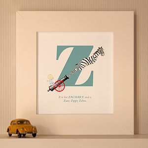 Personalised Name Print, Lyrical Letter - gifts for children