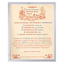 Antique Style Personalised Recipe