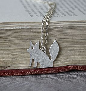Handmade Silver Mr Fox Necklace