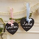 Personalised Heart Chalkboard Tag