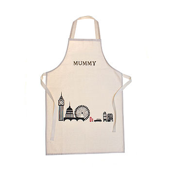 Personalised London Print Adult Apron