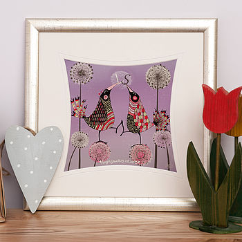 Personalised Love Birds Print